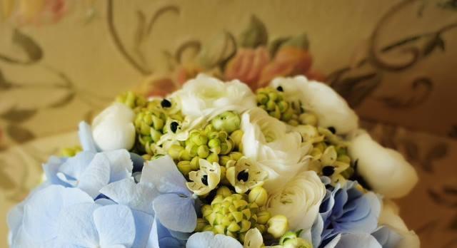 bouquet_sposa_ortensie_ornitogallo