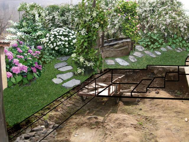 Piccola area in mezz ombra quali piante un quadrato - Giardino in ombra ...
